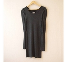H&M Supersoft Sassy Knit Minidress Grey Charcoal Size: 12