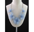 M&S Blue Chunky Flower Necklace