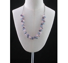 M&S Pink Mix Glass Beaded Necklace