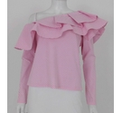 Luxe by Stylekeepers Striped Assymetric Top Candy Pink Size: S