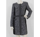 Paul Costelloe Coat Grey and Black Size: 12