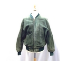 Liberty vintage Suede Jacket Moss Green Size: L
