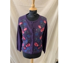 Country Rose Cardigan Purple Size: S