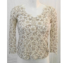 M&S Per Una lacy top with cami brown/white Size: 10