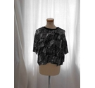 Whistles Funky Short Sleeved Top Black and White Size: 12