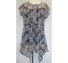 Rocha John Rocha Camisole with Chiffon Blouse Navy Dusty Pink Size: 14