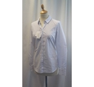 Stradivarius Shirt White and Blue Size: S