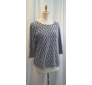 Seasalt Long sleeve top White and Blue Size: 10