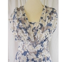 Phase Eight Summer Dress Blue Size: 12