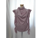 SHK Paris Silky Short Sleeved Top Pink Size: M