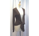 M&S Marks & Spencer Cover up cardigan Brown Size: S