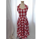 Vivien of Holloway 50's Style Dress Red Gingham Size: 12