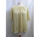 Zara Floaty Dotty Top Beige & Yellow Size: S