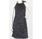 Nougat Sparkly Sequined Dress Black Size: S