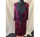 Monsoon Dress Pink and black Size: 12