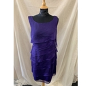 Connected Apparel Dress Purple Size: 12