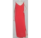 M&S Collection Summer Maxi Dress Flame Coral Size: 24