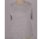 Whistles Speckled T-Shirt Cloud Grey Size: L
