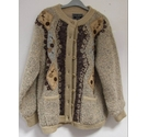 Paramour Soft Boucle-Knit Cardigan in Beige Patterned Size: M