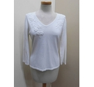 Viyella Long sleeved top White Size: M