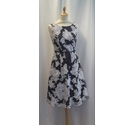 Phase Eight Dress Blue and Silver Size: 8