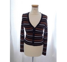 STR Short Length Cardigan Striped Size: M