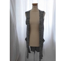 Bershka Sleeveless Cardigan Grey Size: L