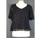 Jacques Vert embellished top black Size: 14