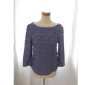 Phase Eight 3/4 Length Sleeved Top Blue Size: 14
