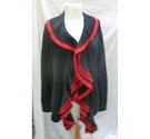oui edge to edge cardigan Black & red Size: 16