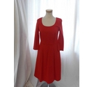 Boden 3/4 Length Sleeved Dress Red Size: 10