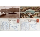 6 vintage postcards from Wales, Scotland, Channel Is, with George VI stamps