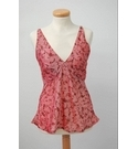 Indian 100% Silk Vest top Reds Pinks Size: M
