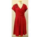 NEW Collectif Dress with Black Lace detail Red Size: 10