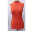 next sleeveless high neck jumper orange Size: 10