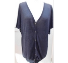 The White Company linen knit slouchy cardigan Navy blue Size: M