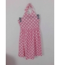 Mini Boden Polka Dot Halter Neck Dress Candy Pink Size: 11 - 12 Years
