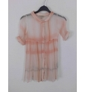Burberry Crinkle Silk Over Blouse Peach Size: 8 - 9 Years