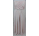 M&S Collection Strapless Pleated Bodice Dress Pale Peach Size: 16