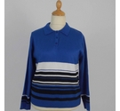 Rachel Lacey Knitted Polo Sweater Blue Size: 14