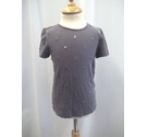 The Little White Company Capped Sleeve T-shirt Grey Size: 2 - 3 Years