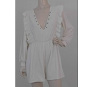 ASOS BNWT Jersey Playsuit Ivory Size: 10