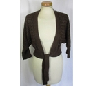 Monsoon Bolero Style Cardigan Brown Size: 12