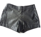 French Connection Faux Leather shorts Black Size: 26""