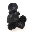 NWOT Marks & Spencer Hat and Scarf Age 3 - 6 years Black Size: Other