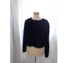 Asos Fluffy Jumper Black Size: 14