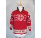 Norlender zip front sweater red nordic Size: M