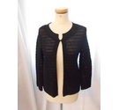 Banana Republic One Buttoned Top Black Size: S