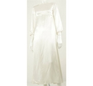 Vintage Circa 1970's Handmade Ivory Wedding Dress Size: 10