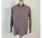 St Michael Country Shirt Check Red Beige Size: XL